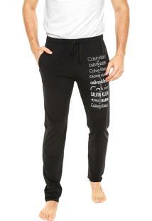 Calça Calvin Klein Underwear Heritage Logo Preta