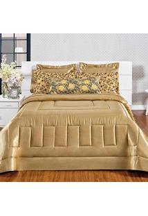 74f43ca6e9 Amazon. Edredom Dourado Quarto Algodão Cetim Poliester King Decorativo  Estampado Kit Em 06 Charmousse Valle - Peças Enxovais Sublime
