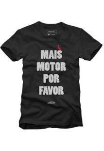 Camiseta Reserva Mais Motor Masculina - Masculino-Preto