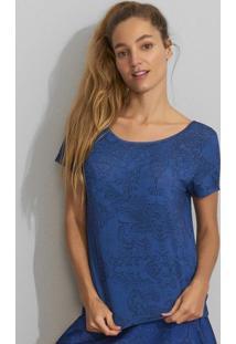 Blusa Com Abertura Posterior - Azul Escuro & Azul Marinhhope