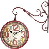 7f22a88a845 Relógio De Parede Para Decoração Vintage Retrô Estilo Estação Ferroviária  Face Dupla London 1889 R3P Import