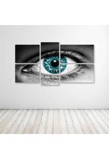 Quadro Decorativo - Eye - Composto De 5 Quadros - Multicolorido - Dafiti