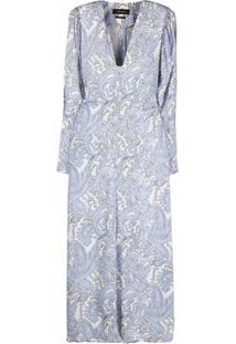 Isabel Marant Vestido Longo Com Estampa Paisley - Azul