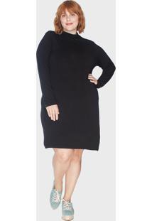 Vestido Tubinho Cacharrel Segunda Pele Plus Size Pretog - Kanui