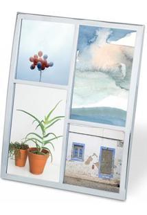 Porta Retrato Senza Multi Fotos 4 Molduras Cromado Umbra