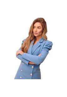Vestido Blazer Anne Fernandes Azul