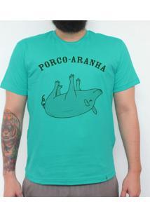 Porco-Aranha - Camiseta Clássica Masculina
