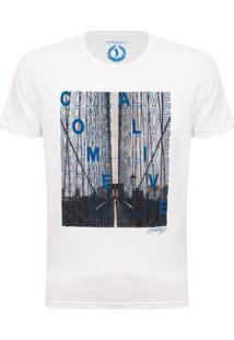 Camiseta Come Alive Aleatory Masculina - Masculino-Branco