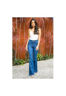 Calça Jeans Flare Over Texas