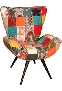 Poltrona Flor Patchwork - Tabaco - Tommy Design