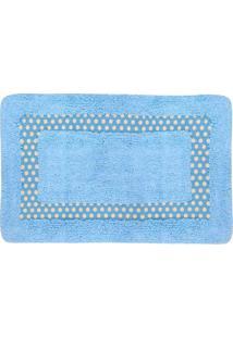 Tapete Para Banheiro Le Color Em Algodão 40X60Cm Azul Celeste