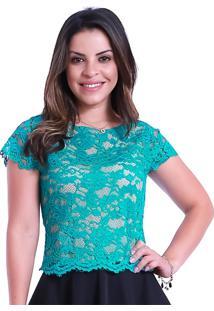 Blusa Miss Lady Renda Verde