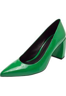 Scarpin Milaa Salto Grosso Verde