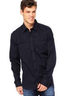 Camisa Manga Longa West Coast Bolso Azul