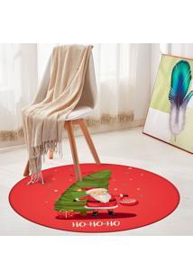 Tapete De Natal Redondo Ho Ho Ho 84Cm - Multicolorido - Dafiti