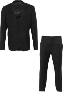 Blazer E Calça Calvin Klein Jeans Slim Preto