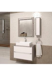 Gabinete Suspenso Para Banheiro Com Espelheira Ravena 80 Balcony Supremo/Connect