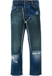 2474efaaa0 ... Dolce   Gabbana Calça Jeans Cropped Com Patch - Azul