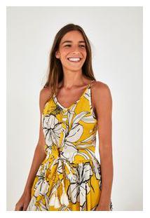 Blusa No Hibisco Amarelo