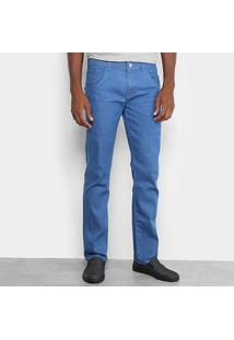 Calça Jeans Slim Preston Lavagem Clássica Masculina - Masculino-Azul Claro