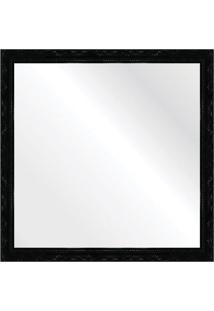 Espelho Brilho Rococo Preto 46X46Cm