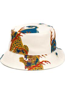 Kirin Chapéu Com Estampa - Branco