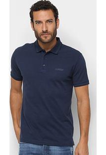 Camisa Polo Ellus Piquet Industry Co. Masculina - Masculino-Azul Escuro