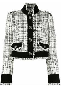 Dolce & Gabbana Cropped Tweed Jacket - Branco
