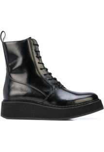 Rachel Comey Ankle Boot Com Cadarço - Preto