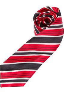 Gravata Vermelha Listrada - Uni