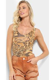Body Flora Zuu Animal Print - Feminino-Onça