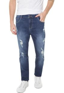 Calça Jeans Coca-Cola Jeans Skinny Destroyed Azul