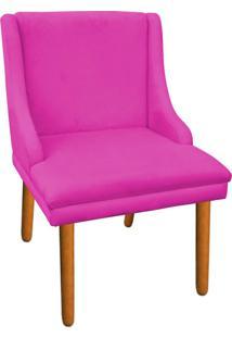 Cadeira Poltrona Decorativa Liz Suede Pink - D'Rossi