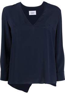 Dondup Blusa Com Bainha Assimétrica - Azul