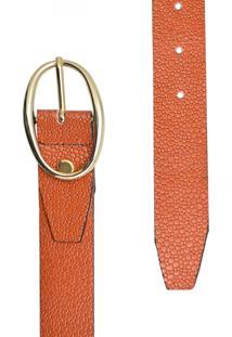 Cinto Corazzi Leather Deluxe Snake Perolizado Laranja