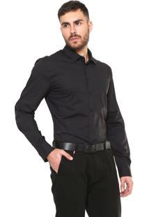 Camisa Colcci Slim Fit Básica Preta