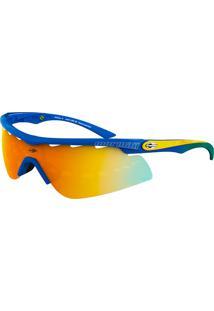 474e4a7bcb2f6 Okulos. Óculos De Sol Mormaii Athlon 2 440 A67 91 Azul Lente Espelhada  Laranja Amarelo Azul Tam 134