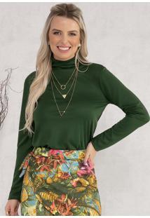 Blusa Com Gola Alta Verde