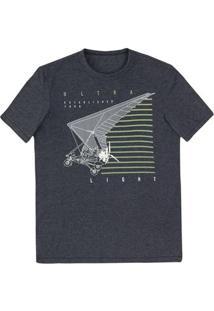 Camiseta Regular Masculina Em Malha De Algodão