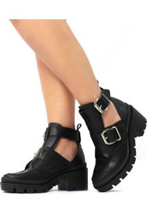 Bota Rebecca Damannu Shoes Napa Preta