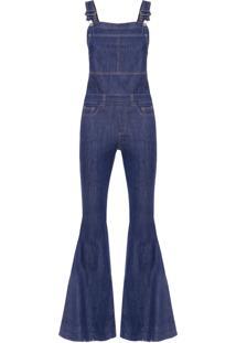 Macacão Feminino Flare Super Dark - Azul