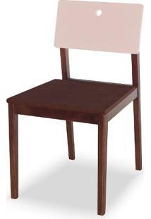 Cadeira Flip Cor Cacau Com Encosto Bege Claro - 31132 Sun House
