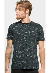 Camiseta Lacoste Live Masculina - Masculino-Preto+Verde