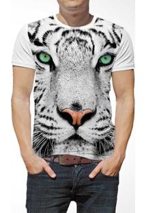 Camiseta Ramavi Onça Curta Branca