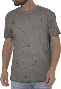 Camiseta Manga Curta Energy Cinza