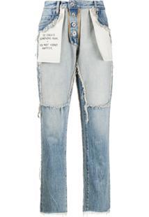 Unravel Project Calça Jeans Boyfriend Com Efeito Destroyed - Azul