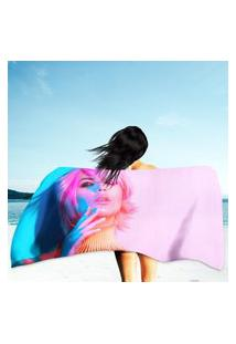 Toalha De Praia / Banho Model Woman In Colorful Único