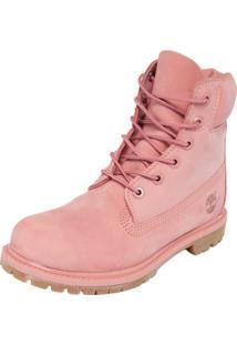 Bota Couro Timberland Yellow Boot 6 Premium Wp W Rosa