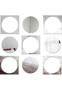 Espelho Decorativo Quadrados E Bolas - 83 Cm X 80 Cm