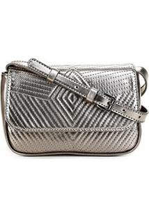 Bolsa Shoestock Belt Bag Matelassê Feminina - Feminino-Prata